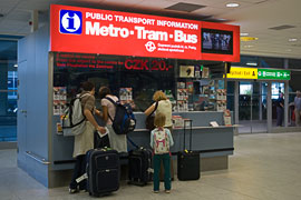 Public Transport Booth at Prague Airport