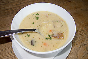 Czech Potato Soup (Bramboračka)