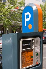 Prague Orange Zone Parking Meter